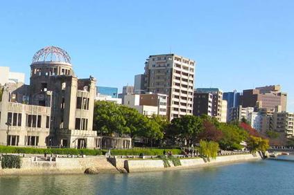 広島市の原爆ドーム