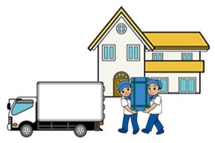 大型家具をトラックに乗せる