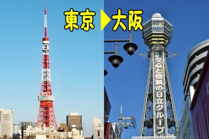 東京から大阪
