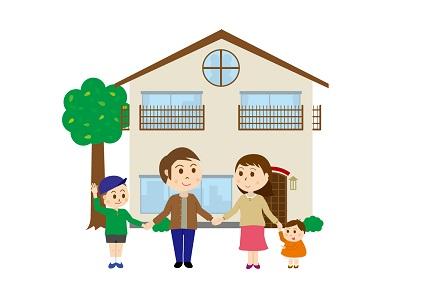 家と家族4人