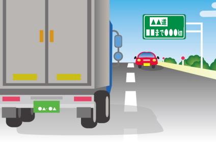 長距離移動のトラック