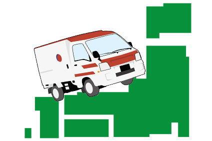 日本地図と軽トラック