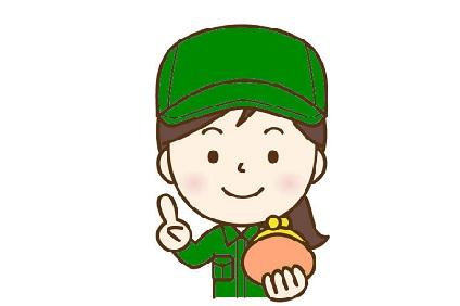 緑の作業服の女性