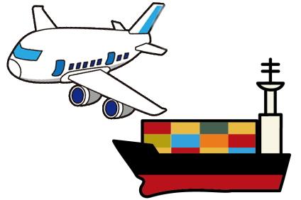 飛行機か船で運ぶ
