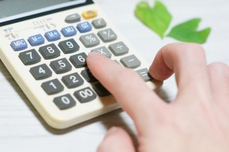 電卓で追加費用を計算
