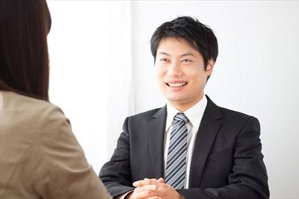 笑顔の営業マン