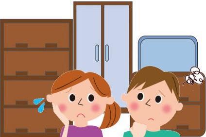 家具の配置に悩む夫婦