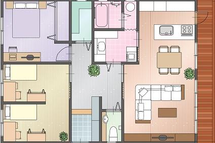 新居の平面図