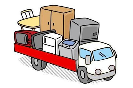 家具を運ぶトラック