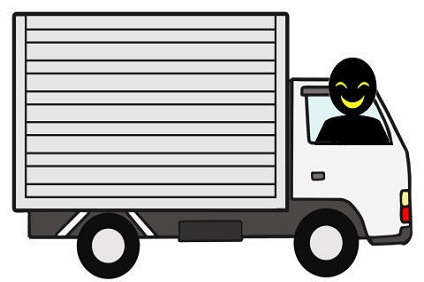 持ち逃げするトラック