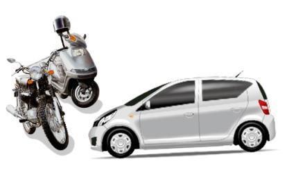 車とバイク