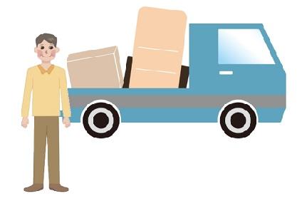 リサイクルショップへ運ぶ荷物