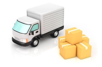 トラックと荷物