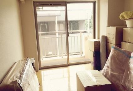 引越し準備完了の部屋