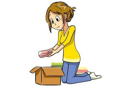 箱に荷物を積める