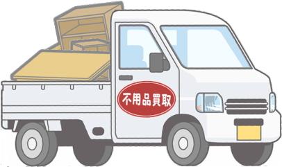 荷物を積んだ軽トラック