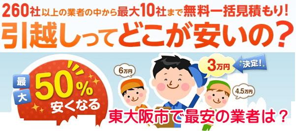 東大阪で最安の引越し業者