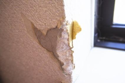傷つけられた壁