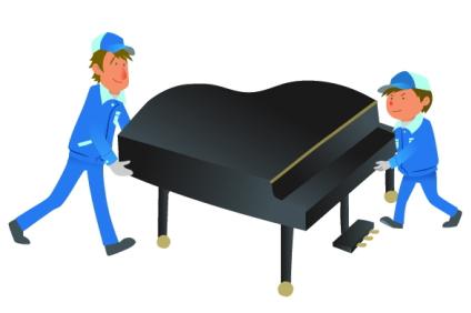 ピアノを運ぶ