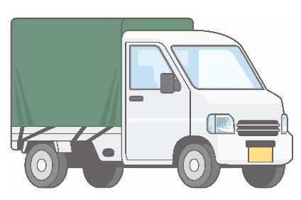 ホロ付き軽トラック