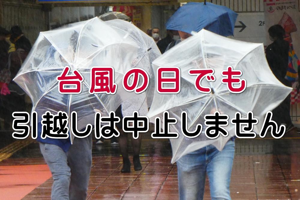 台風の日でも引っ越しは中止しません