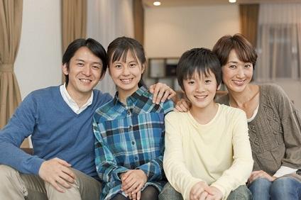仲良し四人家族