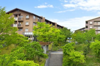 丘陵地のマンション