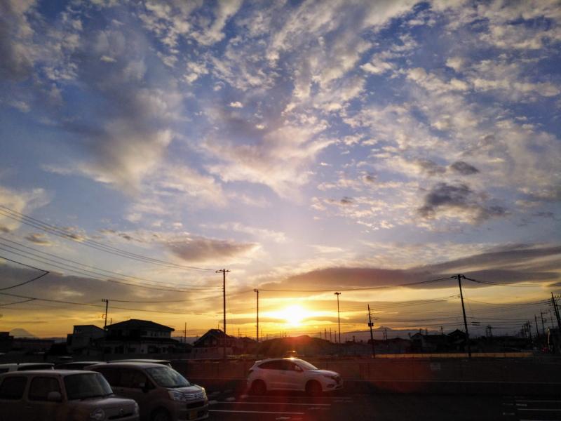 武蔵村山市の夕焼け