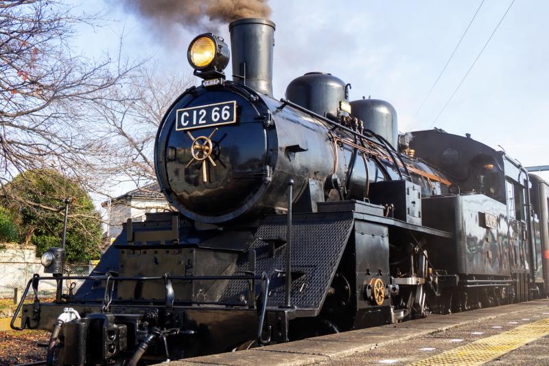 真岡市を走る蒸気機関車