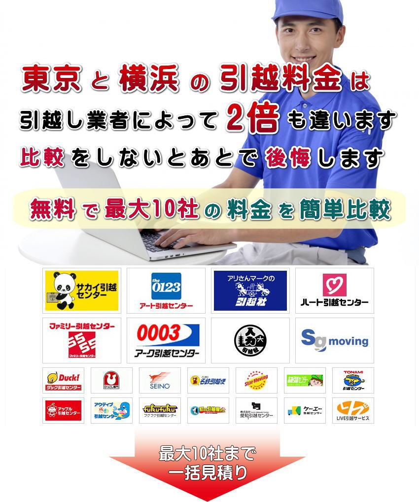 東京と横浜の引越し料金