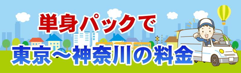 単身パックの料金は東京と神奈川間でいくらになるか