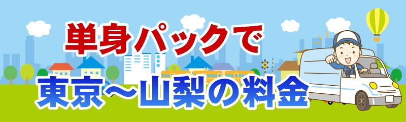 単身パックの東京・山梨間の料金の目安